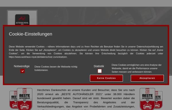 Vorschau von www.autohaus-royal.de, Autohaus Royal