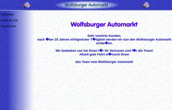 Vorschau von www.wolfsburger-automarkt.de, Der Wolfsburger Automarkt in Berlin