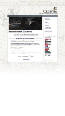 Vorschau der mobilen Webseite www.celestia.info, 3D-Weltraumsimulation Celestia