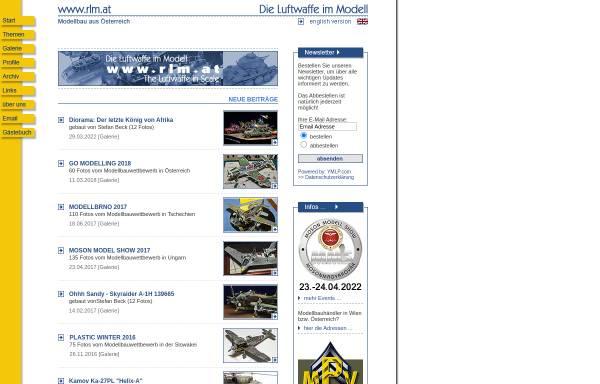 Vorschau von www.rlm.at, Die deutsche Luftwaffe im Modell