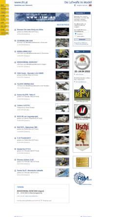 Vorschau der mobilen Webseite www.rlm.at, Die deutsche Luftwaffe im Modell