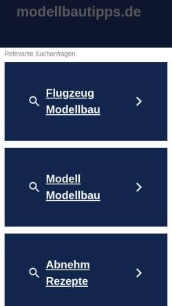Vorschau der mobilen Webseite www.modellbautipps.de, Plastikmodellbau für Profis und Einsteiger