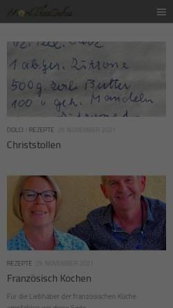 Vorschau der mobilen Webseite blog.morethancakes.de, Kochreisen Blog