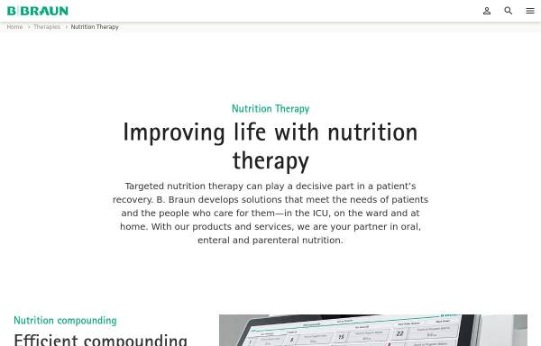 Vorschau von www.ernaehrung.bbraun.de, Fachwissen Klinische Ernährung