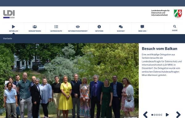Vorschau von www.lfd.nrw.de, Landesbeauftragter für Datenschutz und Informationsfreiheit (LDI NRW)