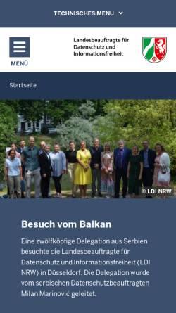 Vorschau der mobilen Webseite www.lfd.nrw.de, Landesbeauftragter für Datenschutz und Informationsfreiheit (LDI NRW)