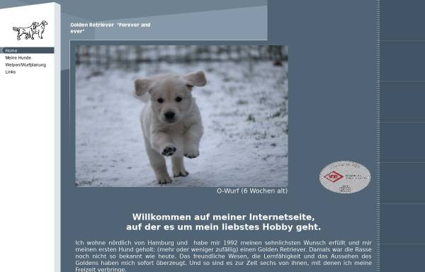 Vorschau von www.forever-and-ever.de, Golden Retriever Forever and ever