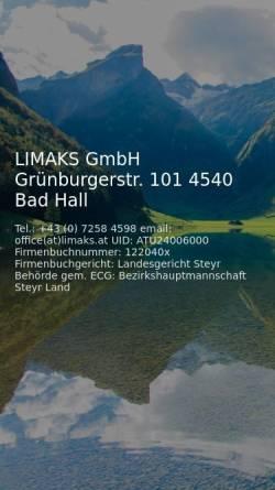 Vorschau der mobilen Webseite www.limaks.at, Limaks K&S-Handelsges.m.b.H.