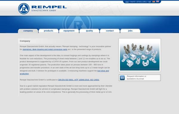 Vorschau von www.stanztechnik.com, Rempel Stanztechnik GmbH & Co. KG