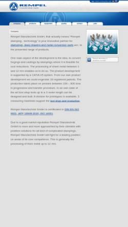 Vorschau der mobilen Webseite www.stanztechnik.com, Rempel Stanztechnik GmbH & Co. KG
