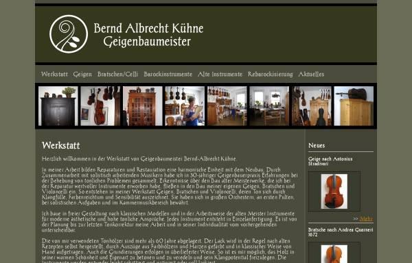 Vorschau von www.geigenbau-kuehne.de, Kühne, Bernd-Albrecht
