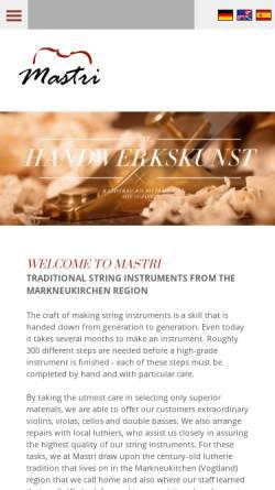 Vorschau der mobilen Webseite www.nestler-instruments.com, Nestler, Stefan