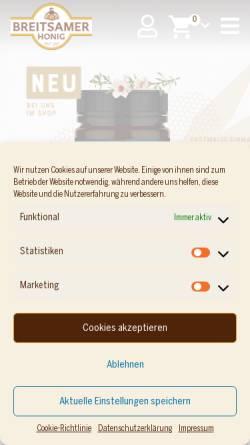 Vorschau der mobilen Webseite www.breitsamer.de, Breitsamer + Ulrich GmbH Co KG