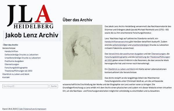 Vorschau von www.jacoblenz.de, Forschungsstelle J. M. R. Lenz