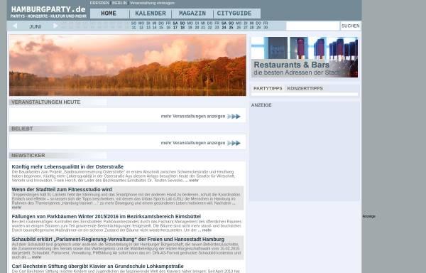 Vorschau von www.hamburgparty.de, Hamburgparty