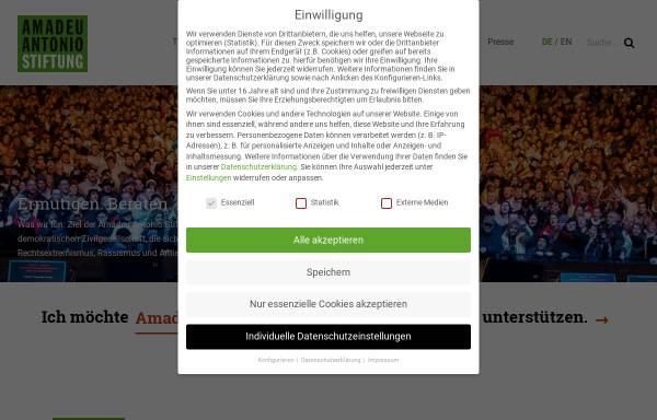 Vorschau von www.amadeu-antonio-stiftung.de, Amadeu Antonio Stiftung (AAS)