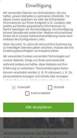 Vorschau der mobilen Webseite www.amadeu-antonio-stiftung.de, Amadeu Antonio Stiftung (AAS)