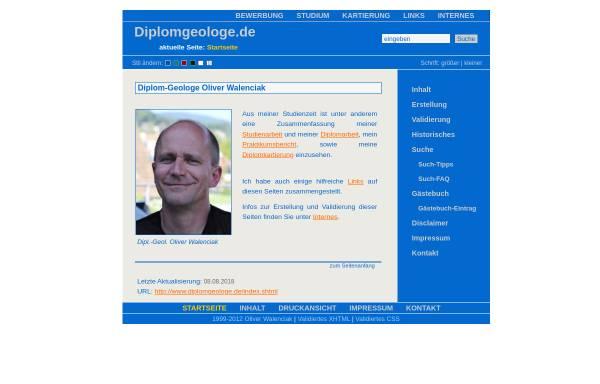 Vorschau von www.diplomgeologe.de, Diplomgeologe Oliver Walenciak