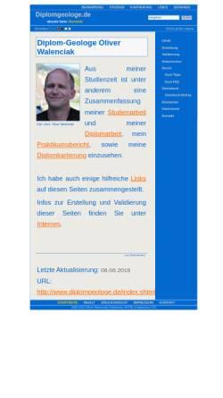 Vorschau der mobilen Webseite www.diplomgeologe.de, Diplomgeologe Oliver Walenciak