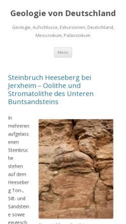 Vorschau der mobilen Webseite derhaase.de, Geologie mit Exkursionen, Hydrogeologie, Vulkanologie
