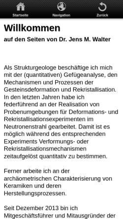 Vorschau der mobilen Webseite www.jumwalter.de, Geologie [Walter, Jens]