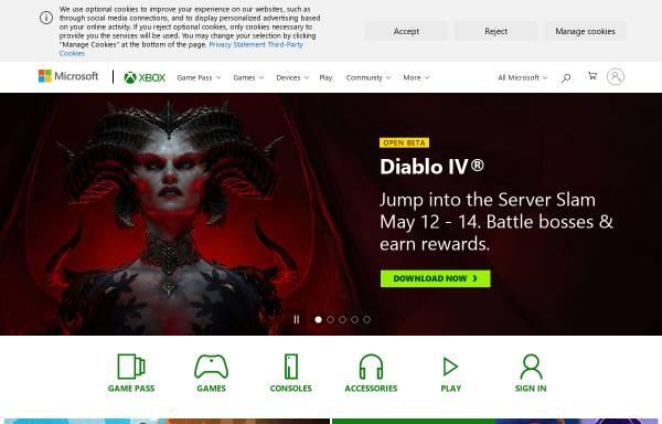 Vorschau von www.xbox.com, Xbox.com