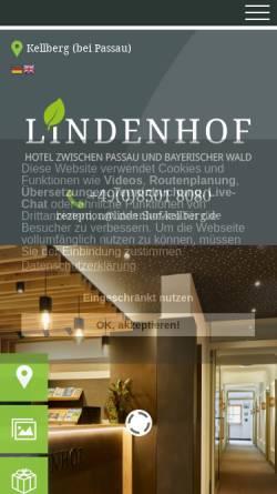 Vorschau der mobilen Webseite www.lindenhof-kellberg.de, Hotel Lindenhof garni