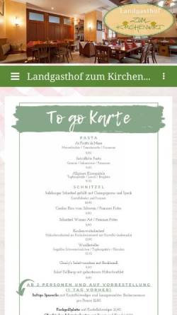 Vorschau der mobilen Webseite www.kirchenwirt-kellberg.de, Landgasthof Zum Kirchenwirt