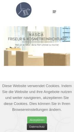 Vorschau der mobilen Webseite www.nascaline.de, Nasca Line Objekteinrichtungen