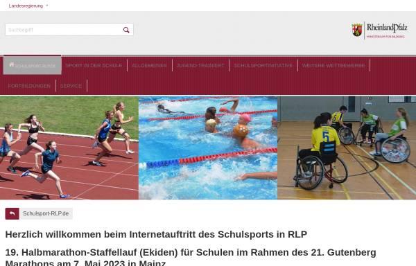 Vorschau von www.schulsport-rlp.de, Schulsport Rheinland-Pfalz