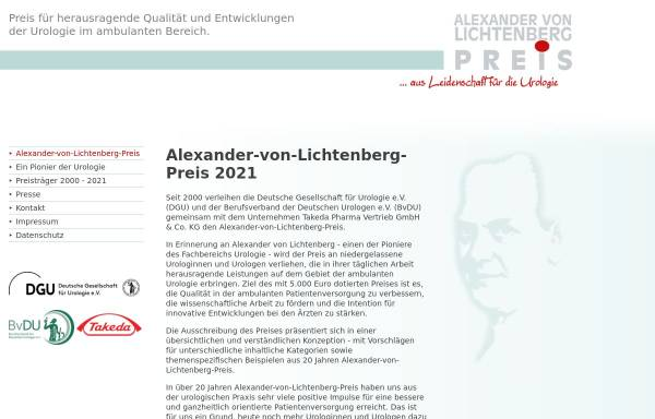 Vorschau von www.alexander-von-lichtenberg-preis.de, Alexander-von-Lichtenberg-Preis