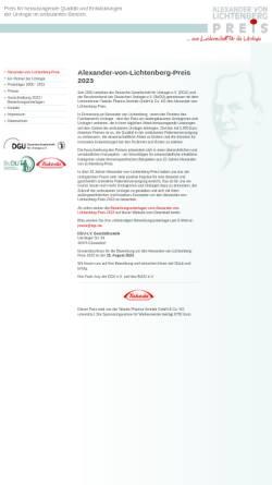 Vorschau der mobilen Webseite www.alexander-von-lichtenberg-preis.de, Alexander-von-Lichtenberg-Preis