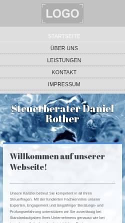 Vorschau der mobilen Webseite www.steuerberater-rother.de, Steuerberater Daniel Rother
