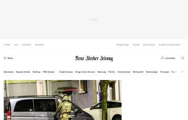 Vorschau von www.nzz.ch, Neue Zürcher Zeitung