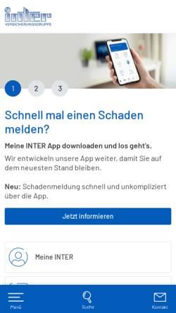 Vorschau der mobilen Webseite www.inter.de, Inter Versicherungsgruppe