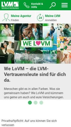 Vorschau der mobilen Webseite www.lvm.de, LVM-Versicherungen