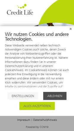 Vorschau der mobilen Webseite www.creditlife.net, Credit Life AG