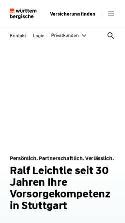 Vorschau der mobilen Webseite www.wuerttembergische.de, Wüstenrot & Württembergische AG