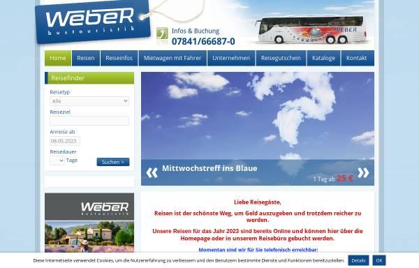 Vorschau von www.weber-bustouristik.de, Weber Bustouristik GmbH