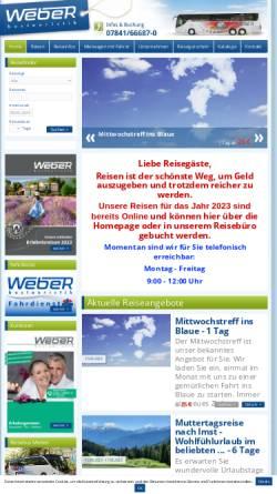 Vorschau der mobilen Webseite www.weber-bustouristik.de, Weber Bustouristik GmbH