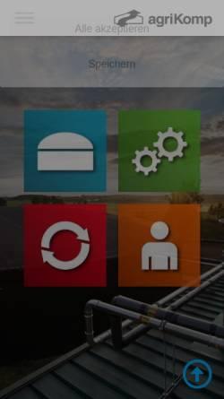 Vorschau der mobilen Webseite agrikomp.com, AgriKomp GmbH