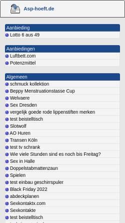Vorschau der mobilen Webseite www.asp-hoeft.de, ASP-Hoeft e.K.