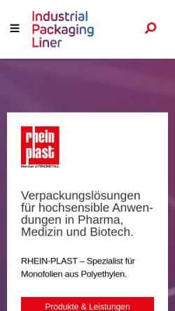 Vorschau der mobilen Webseite www.rhein-plast.de, Rhein-Plast GmbH