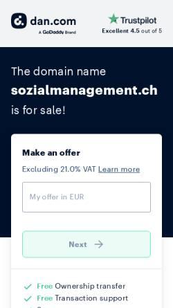 Vorschau der mobilen Webseite www.sozialmanagement.ch, Informationsplattform Sozialmanagement und Wirtschaftsethik