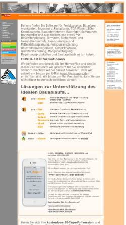 Vorschau der mobilen Webseite www.pro-plan.net, Projekt- und Bauzeitenplaung mit pro-Plan