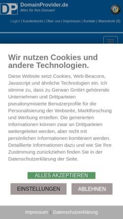 Vorschau der mobilen Webseite www.gerwan.de, Gerwan GmbH