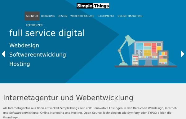 Vorschau von www.simplethings.de, SimpleThings GmbH