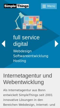 Vorschau der mobilen Webseite www.simplethings.de, SimpleThings GmbH