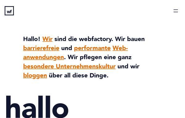 Vorschau von www.webfactory.de, webfactory GmbH