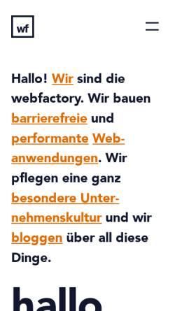 Vorschau der mobilen Webseite www.webfactory.de, webfactory GmbH